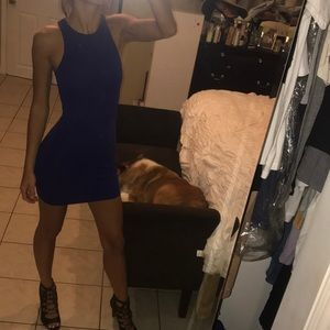 Right Royal Blue Mini Dress